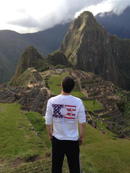 Brother Scotty looking over Machu Picchu