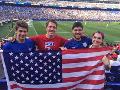 Hayden Grahl attended the USA soccer game, where they beat Cuba 6-0